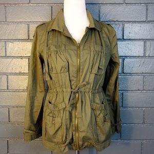 Bar III Olive Military Style Jacket